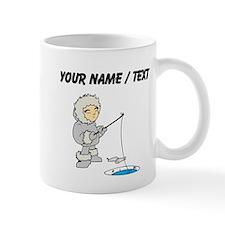 Custom Ice Fishing Cartoon Mug