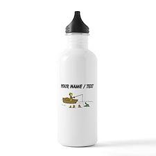 Custom Fishing Cartoon Water Bottle