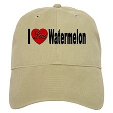 I Love Watermelon Baseball Cap