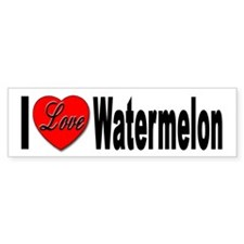 I Love Watermelon Bumper Bumper Sticker