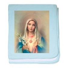 Immaculate Heart of Mary baby blanket