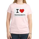 I Love trichologists Women's Pink T-Shirt