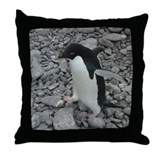 Adelie Penguin Walking 2 Throw Pillow
