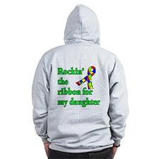 Autism Ribbon for My Daughter Zip Hoodie