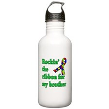 Autism Ribbon for My Brother Water Bottle