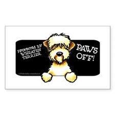 SC Wheaten Terrier Paws Off Decal