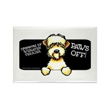 SC Wheaten Terrier Paws Off Rectangle Magnet (10 p