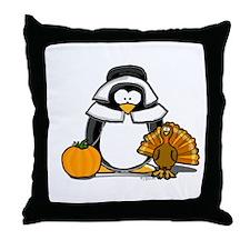 Pilgrim Girl Penguin Throw Pillow