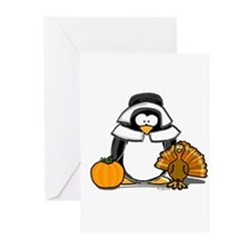 Pilgrim Girl Penguin Greeting Cards (Pk of 10)