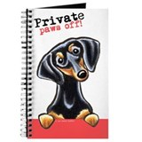 Dachshund Black Tan Paws Off Journal