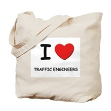 I Love traffic engineers Tote Bag