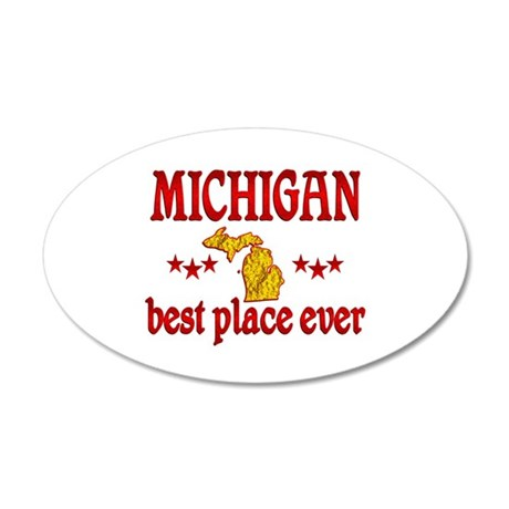 Michigan Best 35x21 Oval Wall Decal