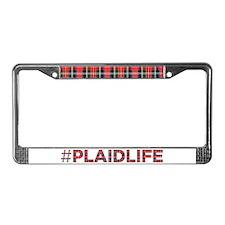 Plaid Life License Plate Frame