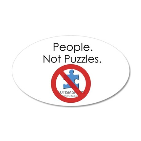 People, Not Puzzles 35x21 Oval Wall Decal