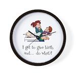Give Birth Wall Clock
