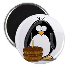 Chocolate Birthday Cake Pengu Magnet