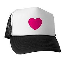 Hot Pink Heart Trucker Hat