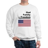 God Family Freedom Sweatshirt - White or Ash Grey