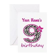9th Birthday - Personalized Greeting Card