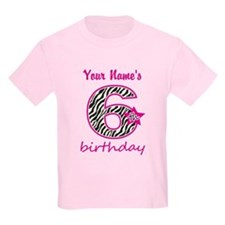 6th Birthday - Personalized T-Shirt