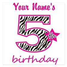5th Birthday - Personalized Flat Cards