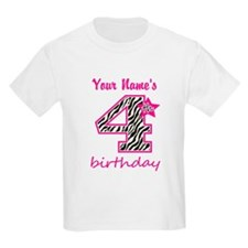 4th Birthday - Personalized T-Shirt