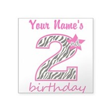 2nd Birthday - Personalized Sticker