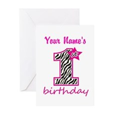 1st Birthday - Personalized Greeting Card