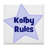 Kolby Rules Tile Coaster