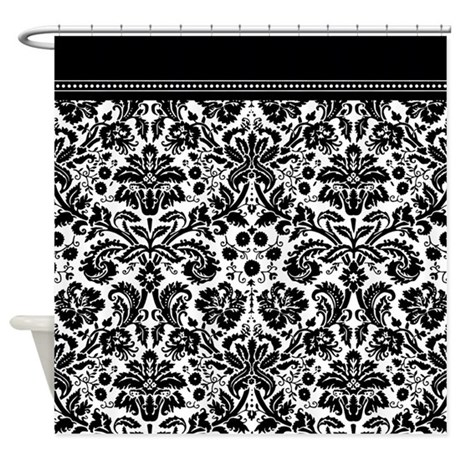Black And White Damask Shower Curtain By InspirationzStore