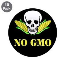 "NO GMO 3.5"" Button (10 pack)"