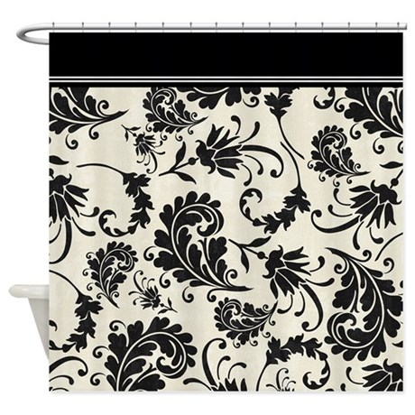 Black And White Damask Shower Curtain black and white shower curtain uk