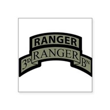 3rd Ranger Bn Scroll/Tab ACU Rectangle Sticker