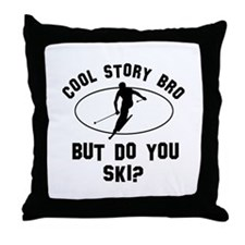 Ski designs Throw Pillow