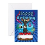 20th Birthday Greeting Card Funky Mouse (Pk of 10)