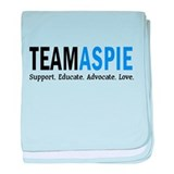 Team Aspie (Blue) baby blanket