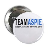 "Team Aspie (Blue) 2.25"" Button (10 pack)"