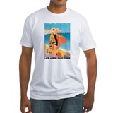 Plage de Calvi Retro Travel P Shirt