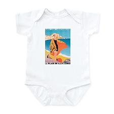 Plage de Calvi Retro Travel P Infant Bodysuit