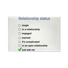 Relationship status Rectangle Magnet