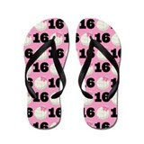 Volleyball Player Number 16 Gift Flip Flops