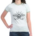 Peace with Wings Jr. Ringer T-Shirt