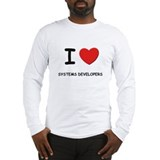 I love systems developers Long Sleeve T-Shirt