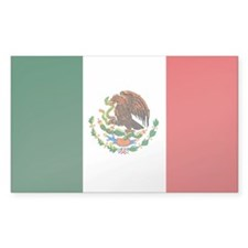 """Mexico Flag"" Rectangle Decal"