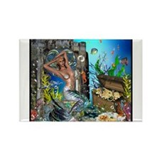 Best Seller Merrow Mermaid Rectangle Magnet (100 p