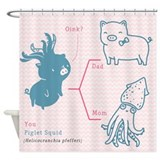 Piglet Squid - Shower Curtain
