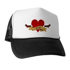 Basset Hound Mom Trucker Hat
