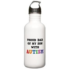 Proud Dad Of My Son With Autism Water Bottle