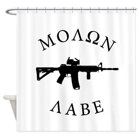 Molon Labe Shower Curtain