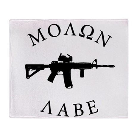 Molon Labe Throw Blanket